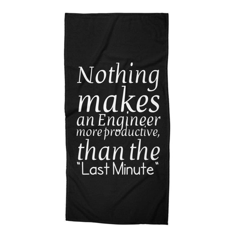 """Nothing makes an Engineer more productive, than the """"Last Minute"""" Accessories Beach Towel by Aura Designs 