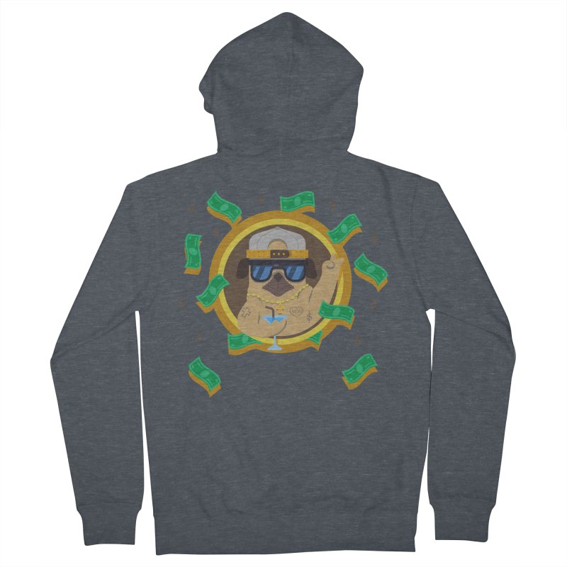 Pug Life Women's French Terry Zip-Up Hoody by Aura Designs   Funny T shirt, Sweatshirt, Phone ca
