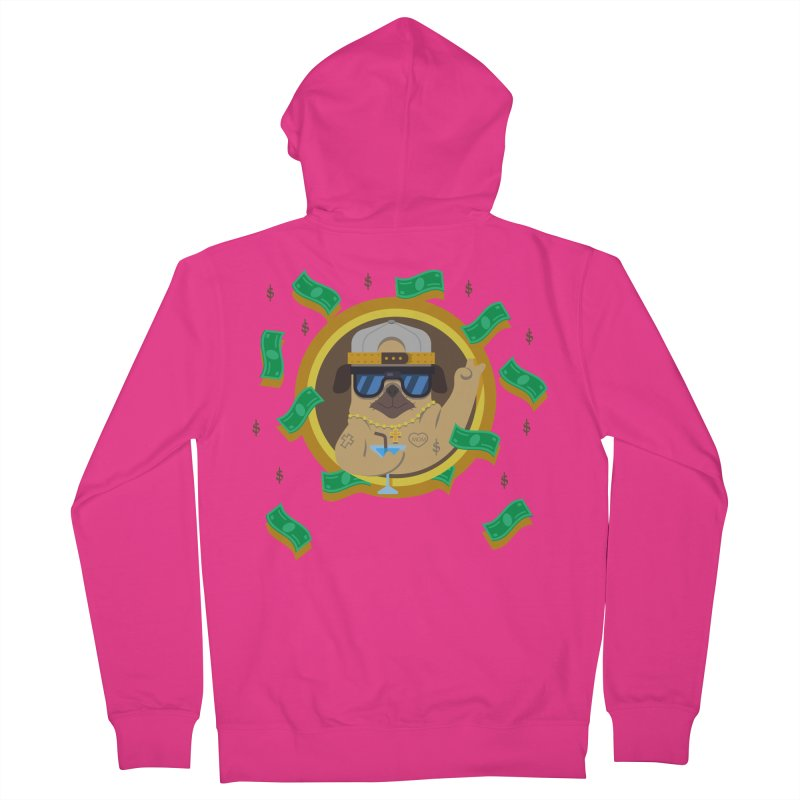 Pug Life Men's Zip-Up Hoody by Aura Designs | Funny T shirt, Sweatshirt, Phone ca