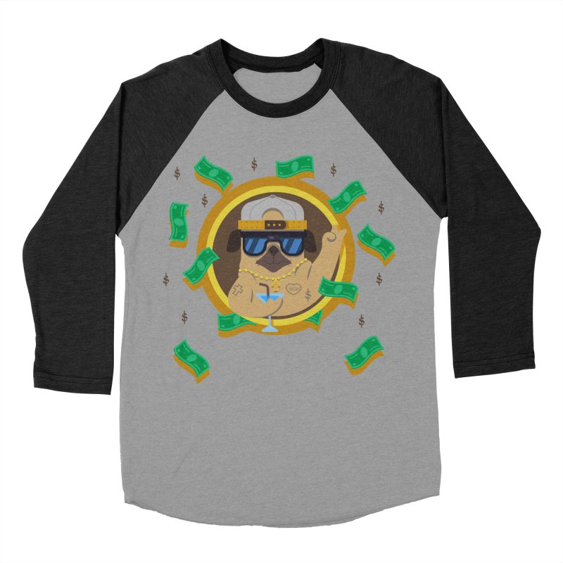 Pug Life Women's Baseball Triblend T-Shirt by Aura Designs | Funny T shirt, Sweatshirt, Phone ca