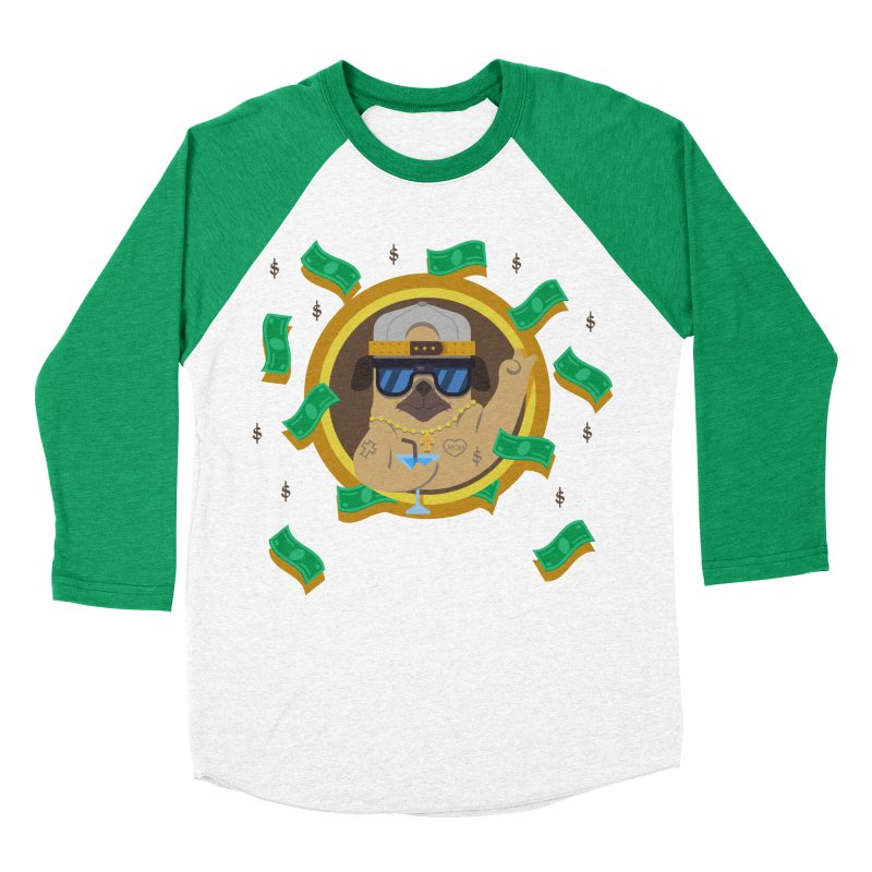 Pug Life Men's Baseball Triblend T-Shirt by Aura Designs | Funny T shirt, Sweatshirt, Phone ca