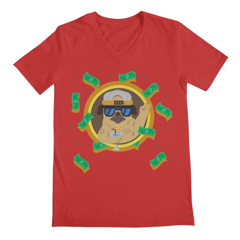 Pug Life Men's Regular V-Neck by Aura Designs | Funny T shirt, Sweatshirt, Phone ca