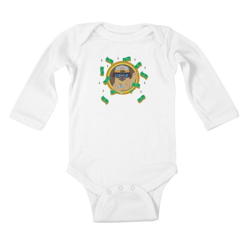 Pug Life Kids Baby Longsleeve Bodysuit by Aura Designs | Funny T shirt, Sweatshirt, Phone ca