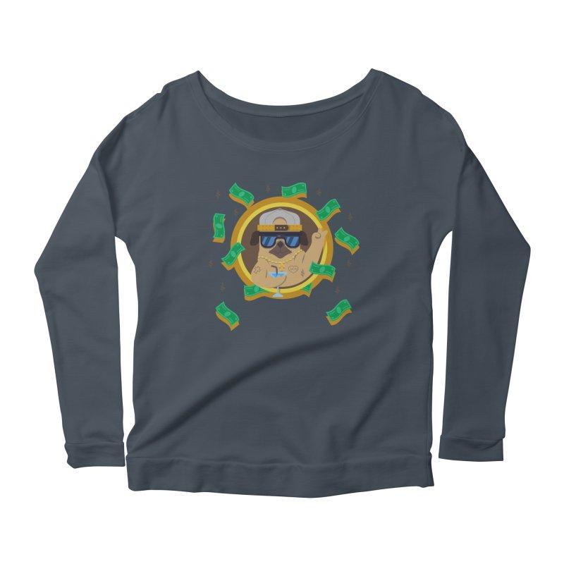 Pug Life Women's Longsleeve Scoopneck  by Aura Designs   Funny T shirt, Sweatshirt, Phone ca