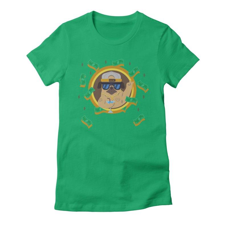 Pug Life Women's Fitted T-Shirt by Aura Designs | Funny T shirt, Sweatshirt, Phone ca