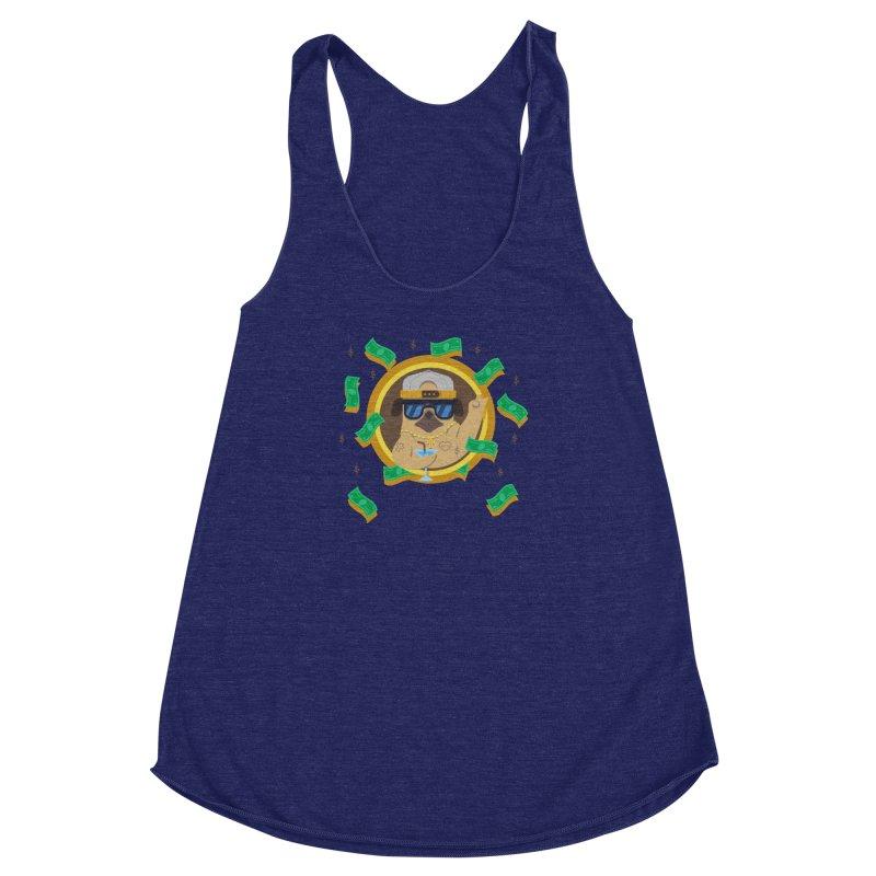 Pug Life Women's Racerback Triblend Tank by Aura Designs   Funny T shirt, Sweatshirt, Phone ca