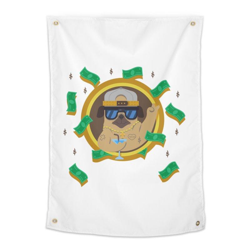 Pug Life Home Tapestry by Aura Designs | Funny T shirt, Sweatshirt, Phone ca