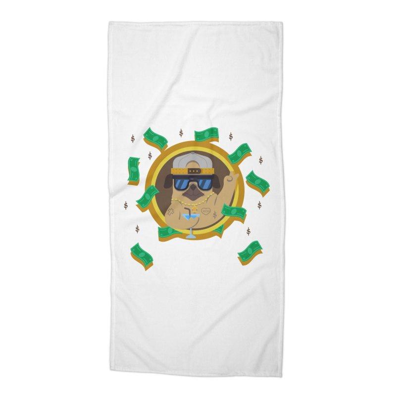Pug Life Accessories Beach Towel by Aura Designs | Funny T shirt, Sweatshirt, Phone ca