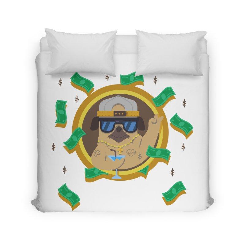 Pug Life Home Duvet by Aura Designs | Funny T shirt, Sweatshirt, Phone ca
