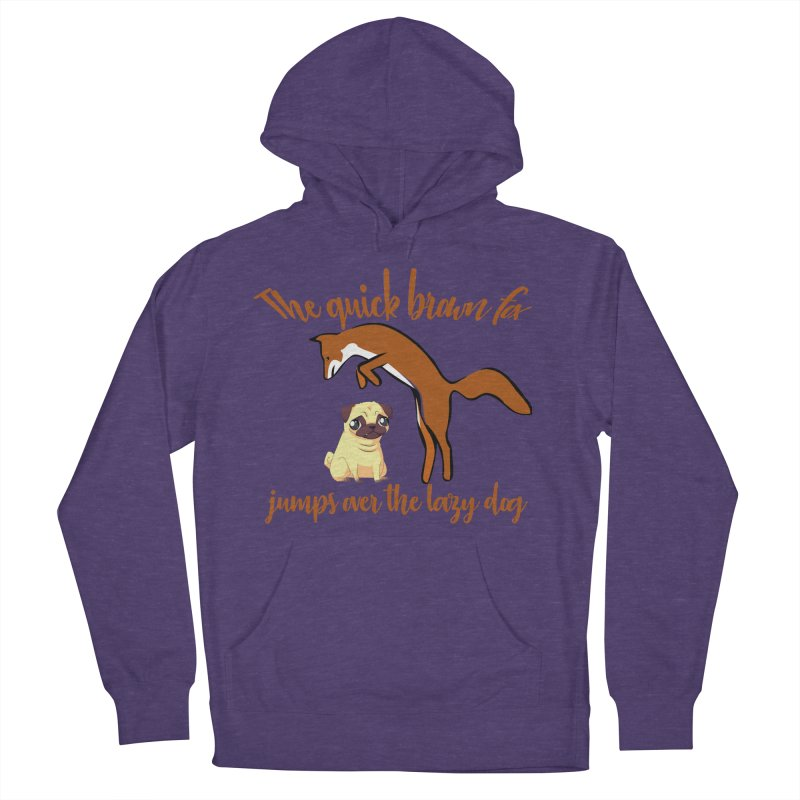 The quick brown fox jumps over the lazy dog Men's French Terry Pullover Hoody by Aura Designs | Funny T shirt, Sweatshirt, Phone ca