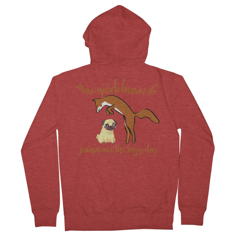 The quick brown fox jumps over the lazy dog Women's French Terry Zip-Up Hoody by Aura Designs | Funny T shirt, Sweatshirt, Phone ca