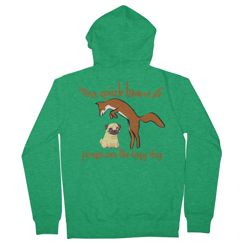 The quick brown fox jumps over the lazy dog Men's Zip-Up Hoody by Aura Designs | Funny T shirt, Sweatshirt, Phone ca