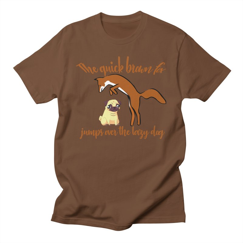 The quick brown fox jumps over the lazy dog Men's T-Shirt by Aura Designs | Funny T shirt, Sweatshirt, Phone ca
