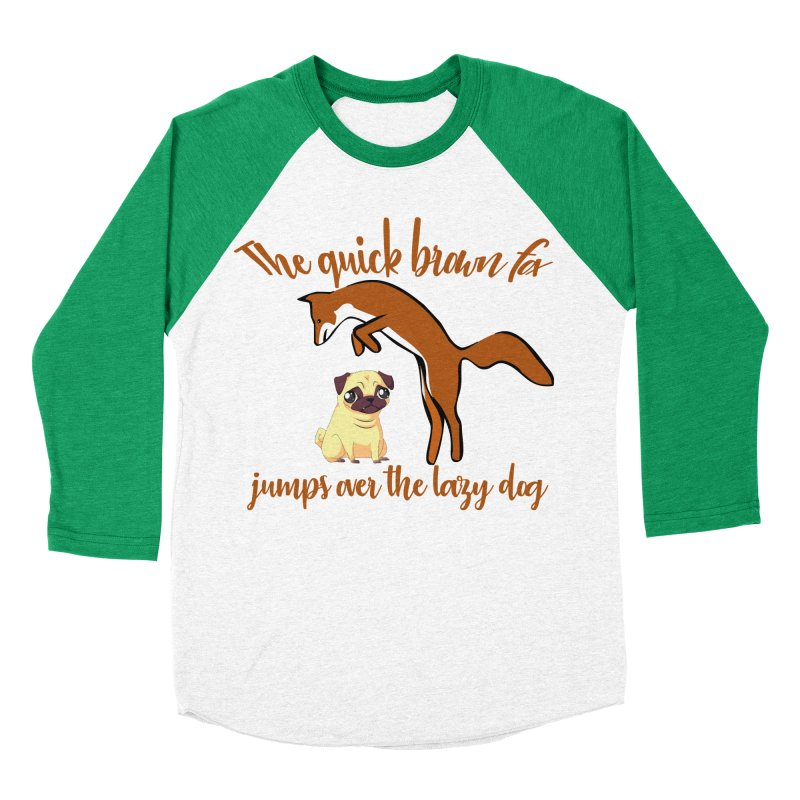 The quick brown fox jumps over the lazy dog Men's Baseball Triblend Longsleeve T-Shirt by Aura Designs | Funny T shirt, Sweatshirt, Phone ca