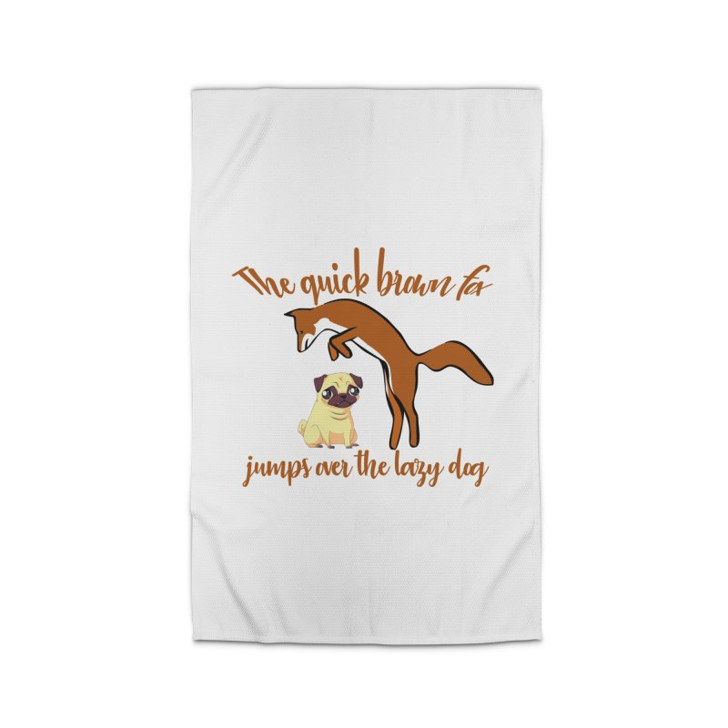 The quick brown fox jumps over the lazy dog Home Rug by Aura Designs | Funny T shirt, Sweatshirt, Phone ca