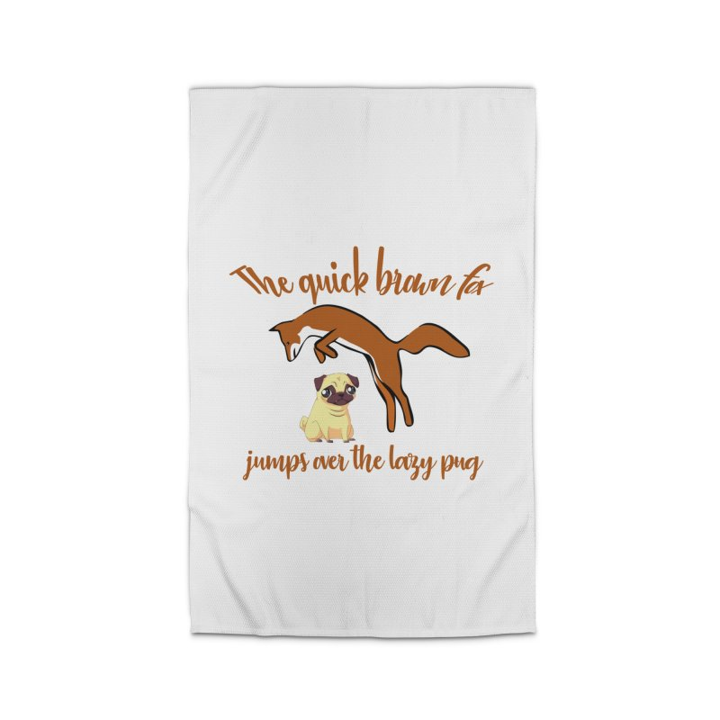 The Quick Brown Fox Jumps Over The Lazy Pug Home Rug by Aura Designs | Funny T shirt, Sweatshirt, Phone ca