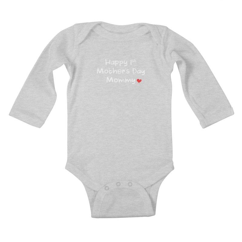 Happy 1st Mother's Day Mommy Baby Bodysuit Kids Baby Longsleeve Bodysuit by Aura Designs | Funny T shirt, Sweatshirt, Phone ca