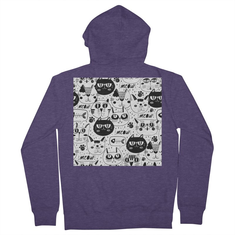 MEOW Men's French Terry Zip-Up Hoody by Aura Designs | Funny T shirt, Sweatshirt, Phone ca