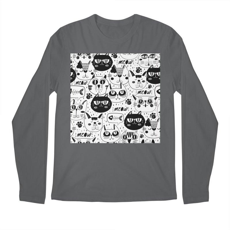 MEOW Men's Regular Longsleeve T-Shirt by Aura Designs   Funny T shirt, Sweatshirt, Phone ca
