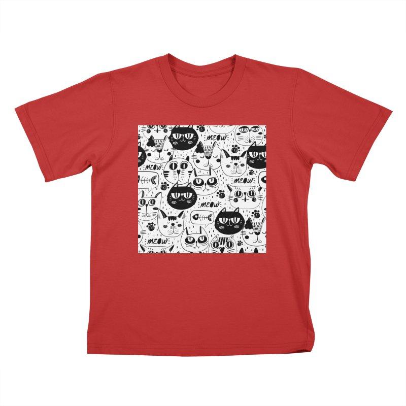 MEOW Kids T-Shirt by Aura Designs | Funny T shirt, Sweatshirt, Phone ca