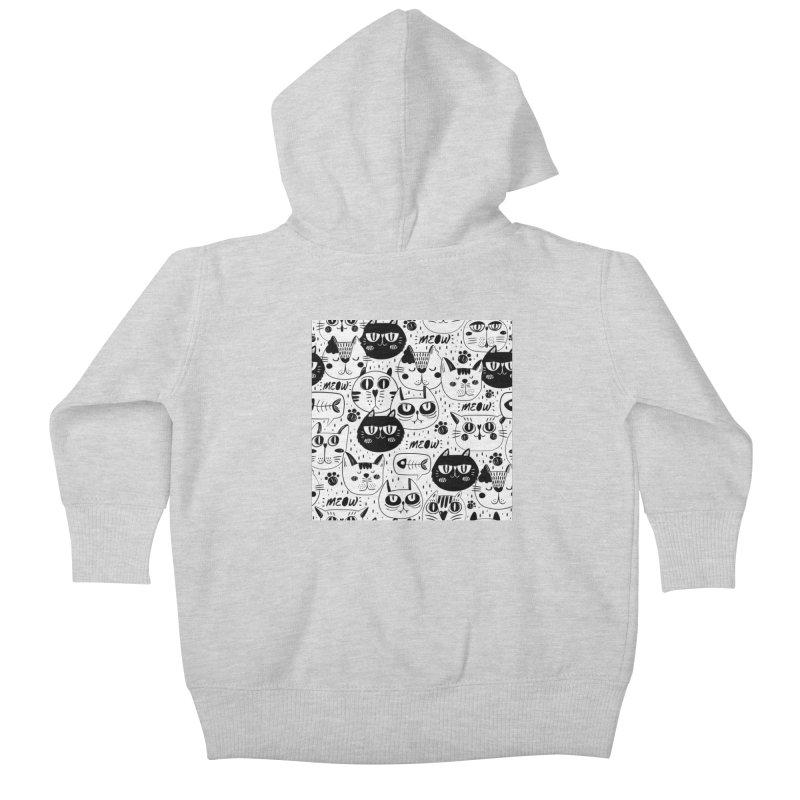 MEOW Kids Baby Zip-Up Hoody by Aura Designs | Funny T shirt, Sweatshirt, Phone ca