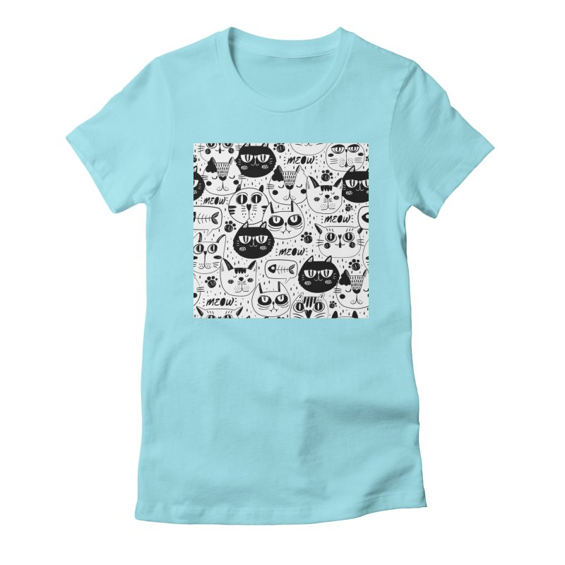 MEOW Women's Fitted T-Shirt by Aura Designs | Funny T shirt, Sweatshirt, Phone ca