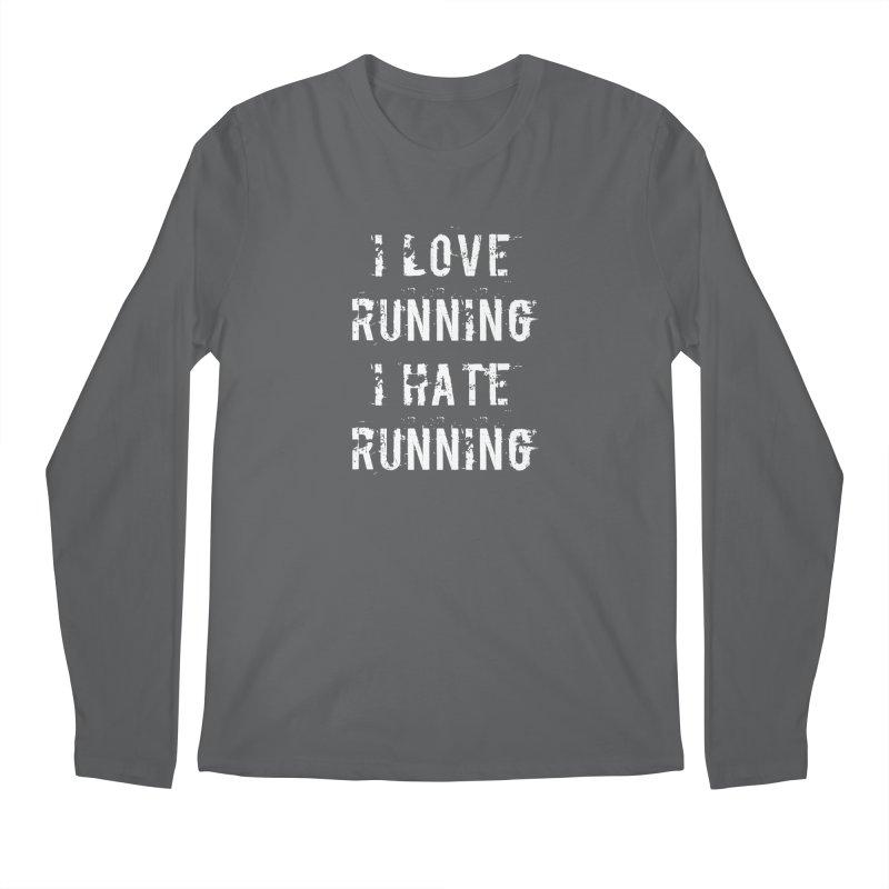 I Love running I Hate running Men's Regular Longsleeve T-Shirt by Aura Designs   Funny T shirt, Sweatshirt, Phone ca