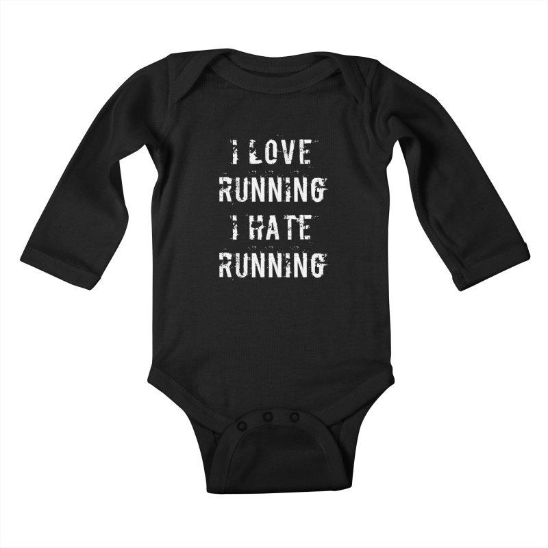 I Love running I Hate running Kids Baby Longsleeve Bodysuit by Aura Designs   Funny T shirt, Sweatshirt, Phone ca