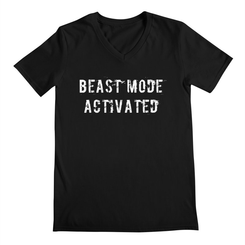 Beast Mode Activated Men's Regular V-Neck by Aura Designs | Funny T shirt, Sweatshirt, Phone ca
