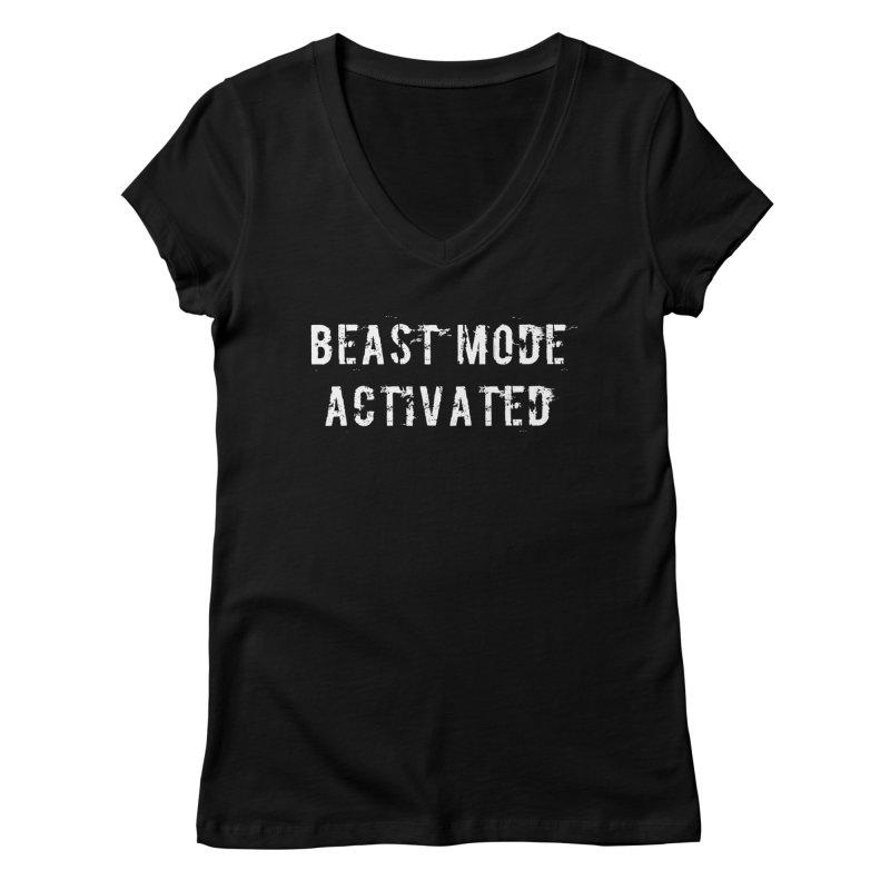Beast Mode Activated Women's Regular V-Neck by Aura Designs | Funny T shirt, Sweatshirt, Phone ca