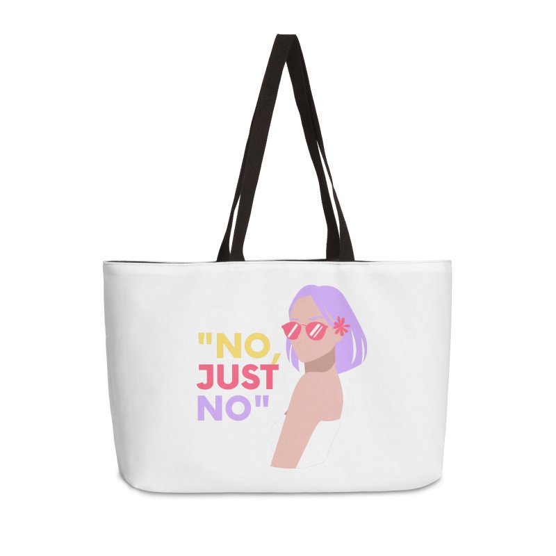 No, Just No Accessories Bag by Author Lisa Becker's SWAG Shop