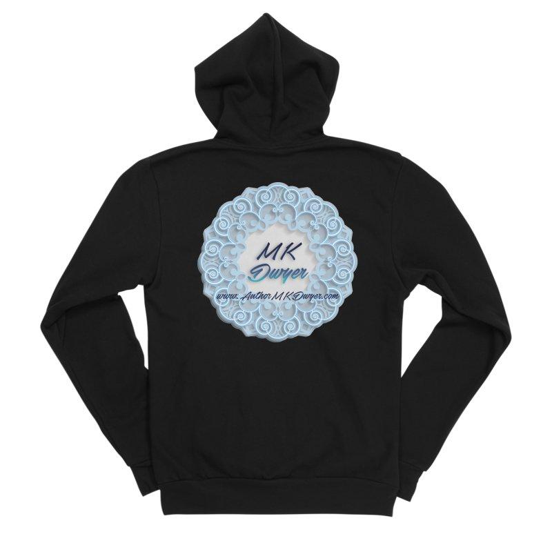 MK Dwyer Logo Men's Sponge Fleece Zip-Up Hoody by AuthorMKDwyer's Artist Shop