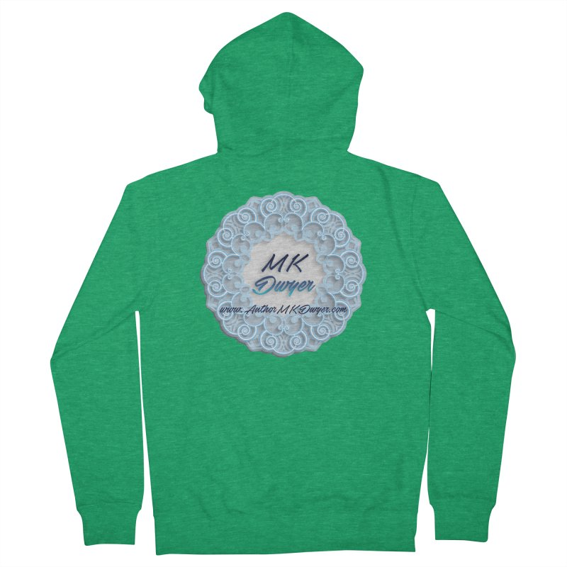 MK Dwyer Logo Men's Zip-Up Hoody by AuthorMKDwyer's Artist Shop