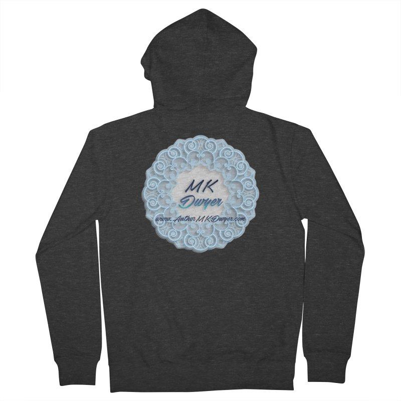 MK Dwyer Logo Men's French Terry Zip-Up Hoody by AuthorMKDwyer's Artist Shop