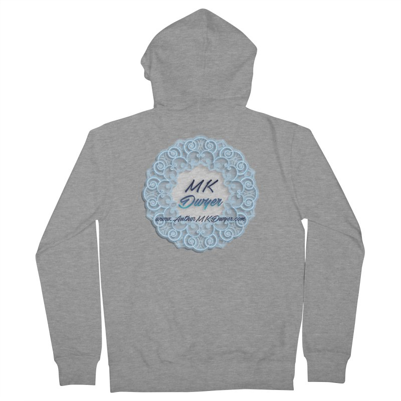 MK Dwyer Logo Men's French Terry Zip-Up Hoody by AuthorMKDwyer's Artist Shop