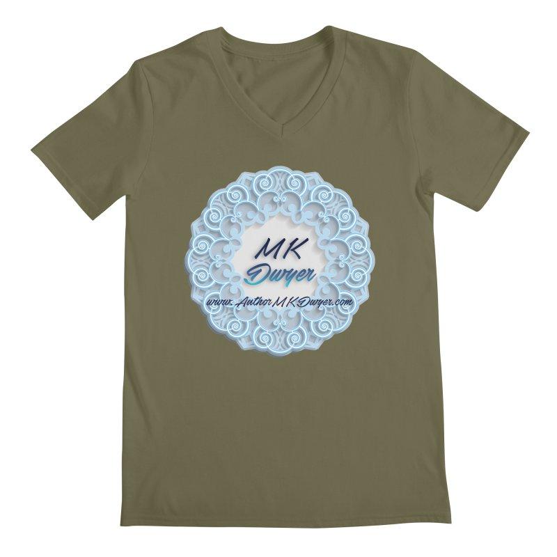 MK Dwyer Logo Men's Regular V-Neck by AuthorMKDwyer's Artist Shop