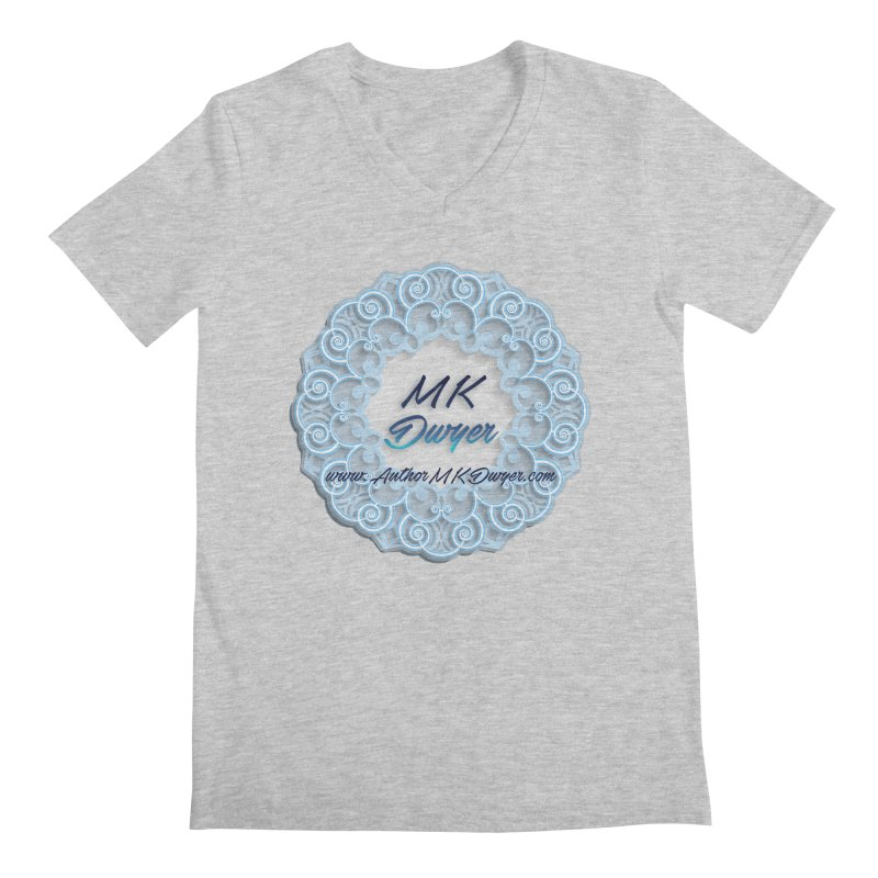 MK Dwyer Logo Men's Regular V-Neck by AuthorMKDwyer's Artist Shop