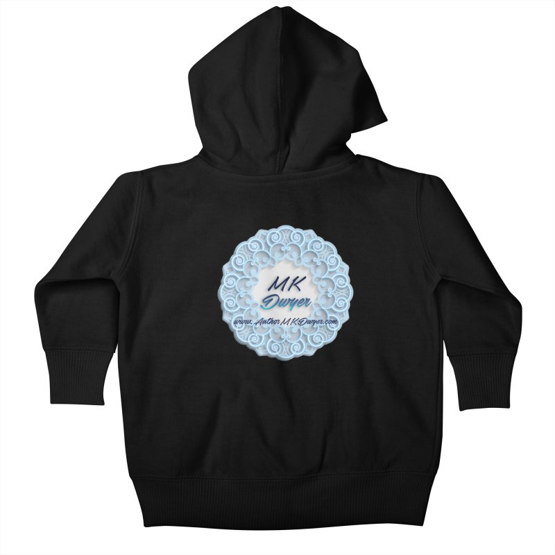 MK Dwyer Logo Kids Baby Zip-Up Hoody by AuthorMKDwyer's Artist Shop