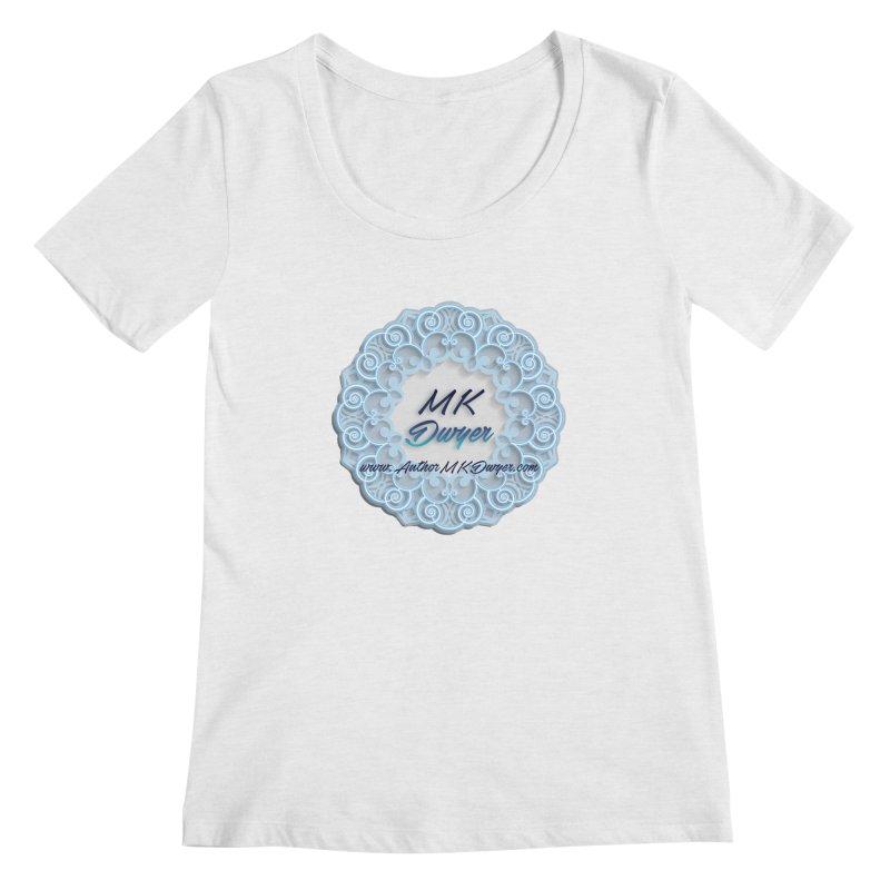 MK Dwyer Logo Women's Regular Scoop Neck by AuthorMKDwyer's Artist Shop