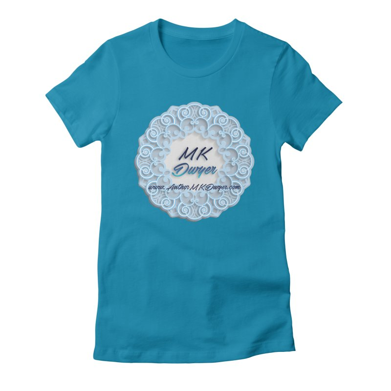 MK Dwyer Logo Women's Fitted T-Shirt by AuthorMKDwyer's Artist Shop