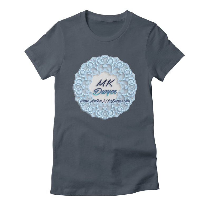 MK Dwyer Logo Women's Fitted T-Shirt by AuthorMKDwyer's Artist Shop