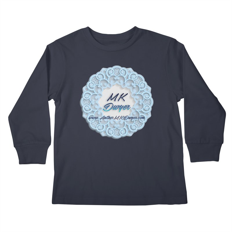 MK Dwyer Logo Kids Longsleeve T-Shirt by AuthorMKDwyer's Artist Shop
