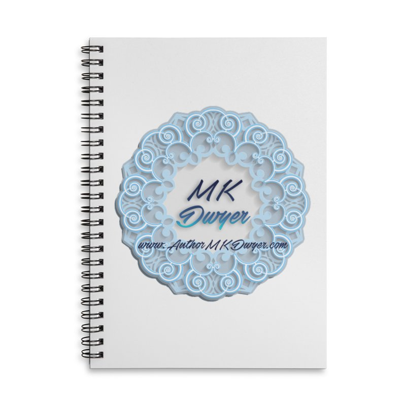 MK Dwyer Logo Accessories Lined Spiral Notebook by AuthorMKDwyer's Artist Shop