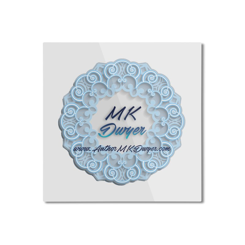 MK Dwyer Logo Home Mounted Aluminum Print by AuthorMKDwyer's Artist Shop