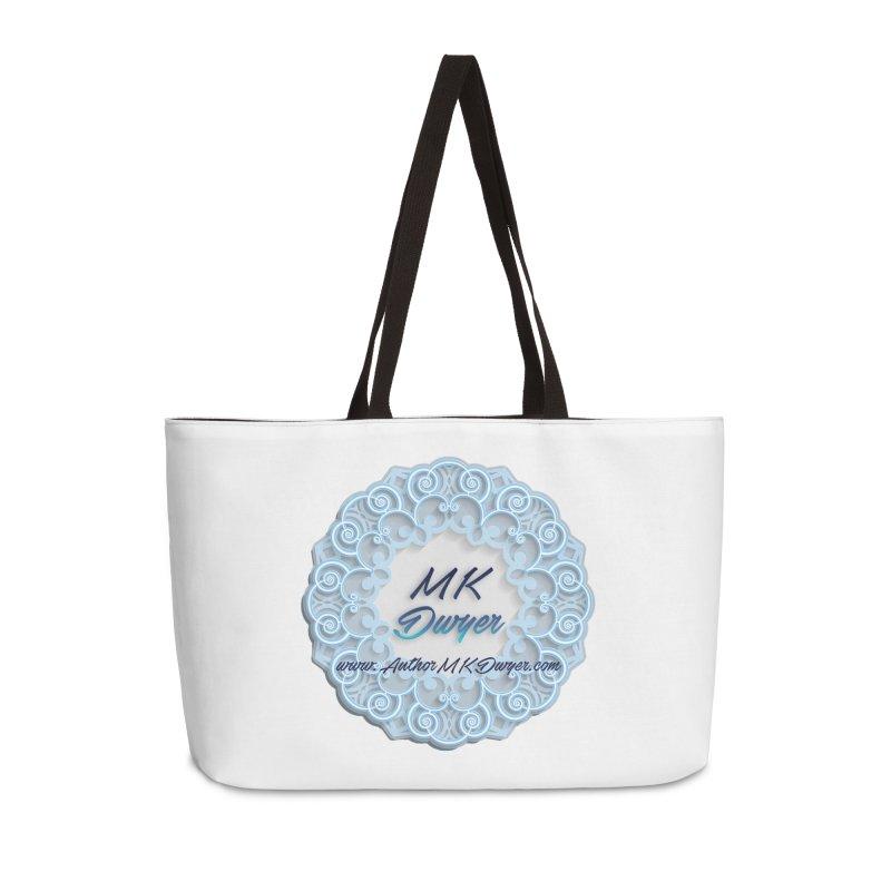 MK Dwyer Logo Accessories Weekender Bag Bag by AuthorMKDwyer's Artist Shop