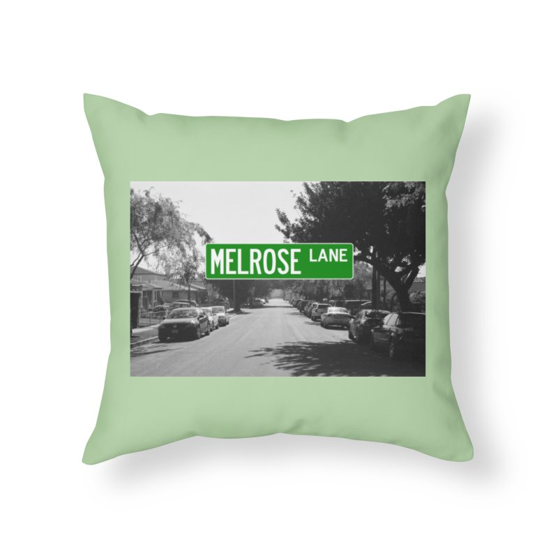 Melrose Lane Home Throw Pillow by AuthorMKDwyer's Artist Shop