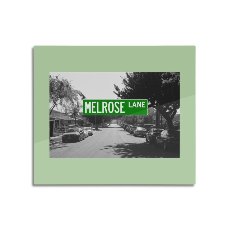 Melrose Lane Home Mounted Aluminum Print by AuthorMKDwyer's Artist Shop
