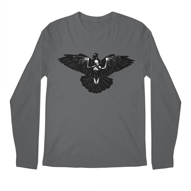 Hell Bird - Black Men's Longsleeve T-Shirt by P.L. McMillan's Artist Shop