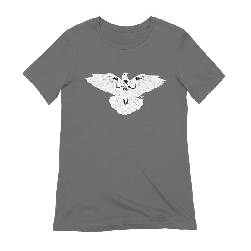 Hell Bird - White Women's T-Shirt by P.L. McMillan's Artist Shop