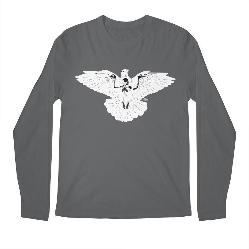 Hell Bird - White Men's Longsleeve T-Shirt by P.L. McMillan's Artist Shop